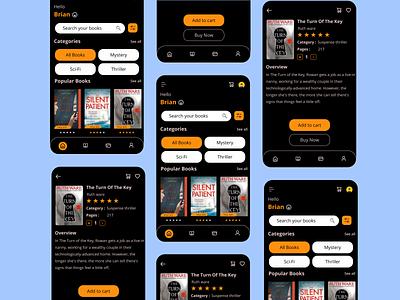 Shopping App of Books design app mobile app design ux ui books app shopping ui mobile app mobile ui shopping app ui shopping app of books shopping app