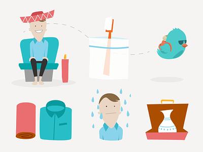 How to Pack for Travel - Owegoo travel illustration infograph guide owegoo mascot