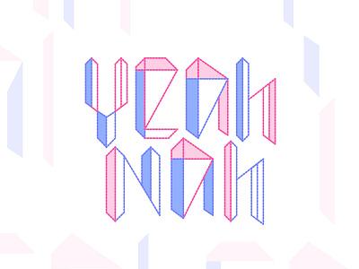 Yeah Nah Summit 2017 brand summit startup pastel logo geometric block