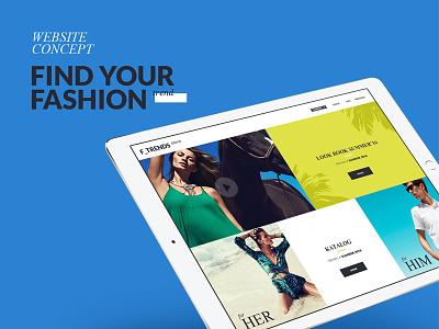 Fashion [ Website concept ]