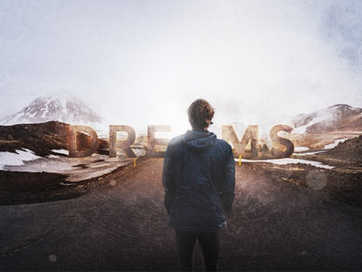 Dreams_digital 2d work digital art dreams mountains typography 2d