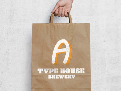 Type House Brewery Shopping Bag logo font lettering letters alphabet typography vector design