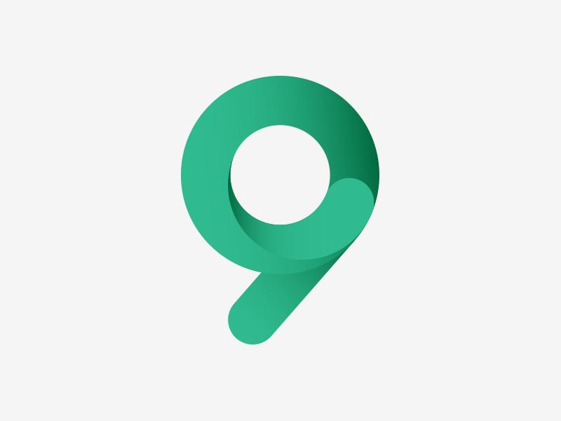 9 typography icon monogram logo