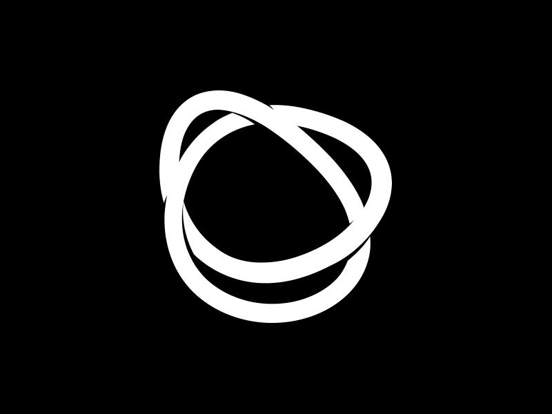 Only Roses white black flower infinite flowers icon emblem logo rebrand