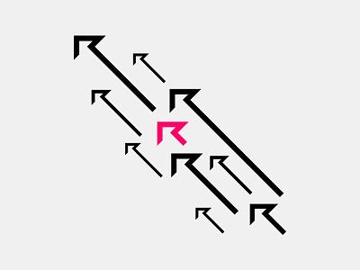 Rise logo artwork pink identity branding system graphic illustrations up rise icon emblem logo