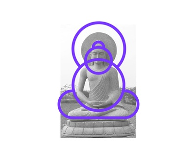 Buddha identity branding illustrations buddha meditation mark icon emblem logo monogram
