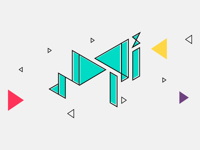 Awaser directions colors triangles typography arabic people connect connections marketing events logo awaser