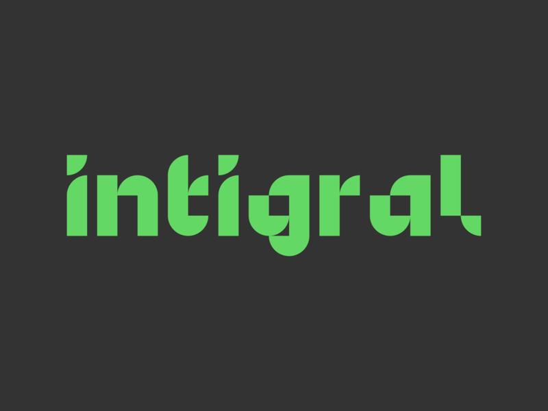 Intigral logo branding identity minimal mono digital design logotype typo logo typogaphy type logo