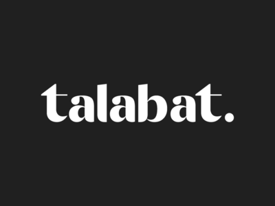 Talabat logo minimal illustration mark emblem identity monogram typography branding icon logo