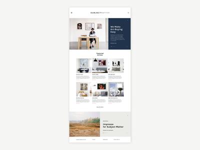 Subject Matter Website