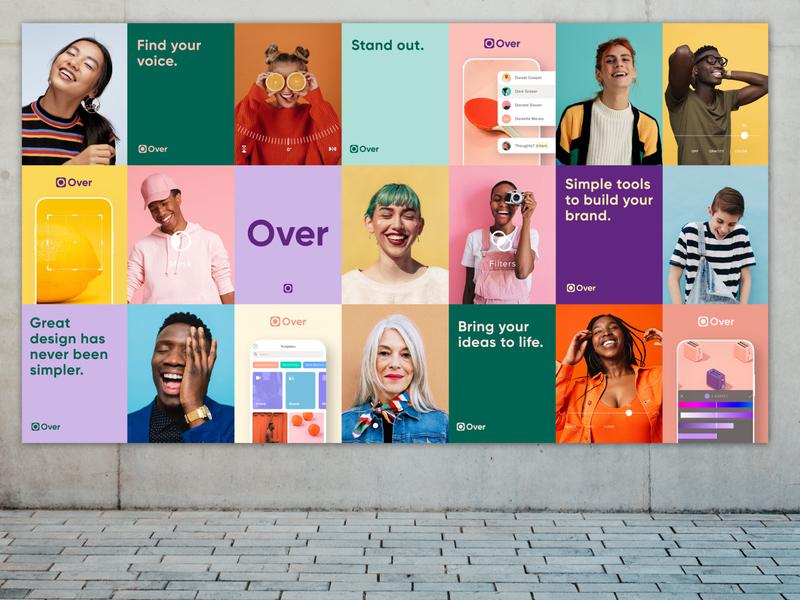 Poster Series for Over self design diversity ui design startup app ui poster design poster brand identity designer art direction identity graphic design corporate identity branding brand design design brand brand identity