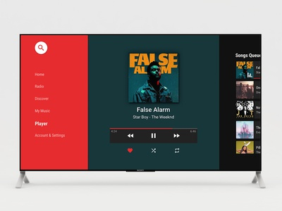 Android TV Music player