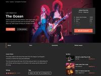 Guitar lessons video UI