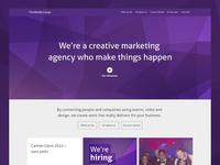The Media Group – Marketing agency website