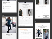 Fashion discovery app UI