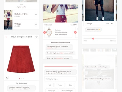 Fashion discovery app ui mobile app ux ui sketch interaction fashion concept