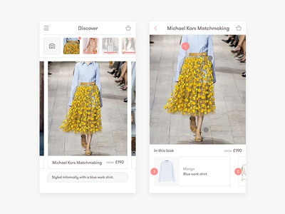 Fashion discovery app ui search interaction sketch app ux ui discovery fashion