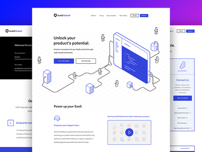 Isometry for Auth0 Extend ui ux isometric draw extension design web pricing icons lego users app