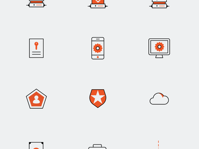 Identicons - Identity Icons Project auth0 app server cloud identity illustration vector pixel color draw graphic design icons iconset