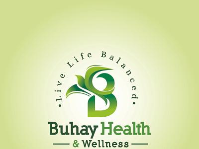 Buhay Health & Wellness logo branding logo illustration design