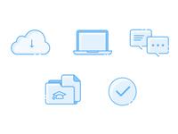 Icons for scientific app