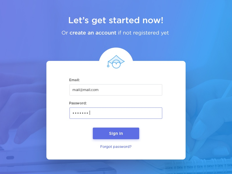 Sign In Screen For A Web App By Kate Dihich On Dribbble