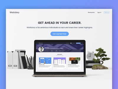 Landing page for Workstory