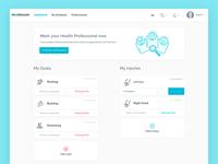 Dashboard of Mentorum web app