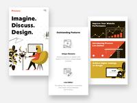 UI Elements of a Concept Web Site