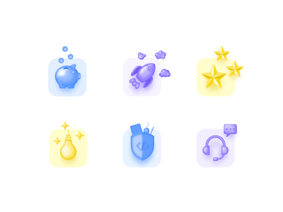 Icons for landing page development icon set
