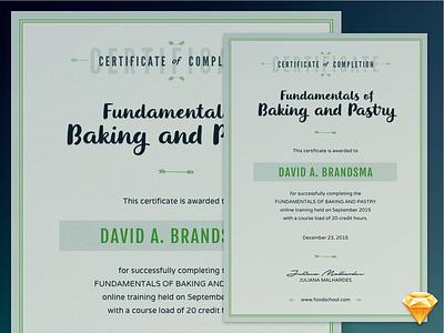 Sketch Freebie - Course Certificate resource download sketch freebie diploma certificate