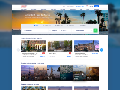 Jolly Tour - Travel Homepage tur jolly ux ui search flight cruise tour trip travel booking hotel