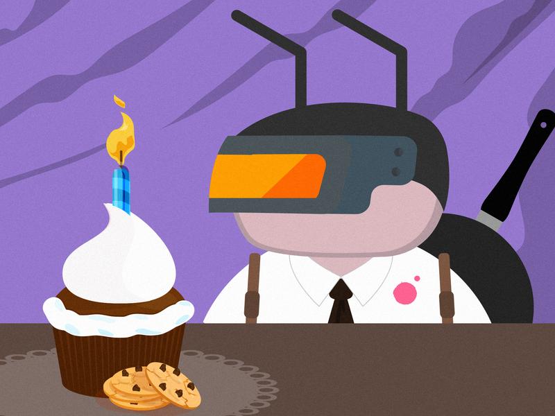 PUBG Birthday Ant birthday vector character ant pubg
