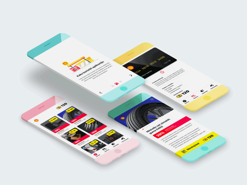 Loyalty app for Shell ui ux coins app coupons loyalty mobile shell