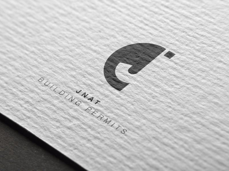 Jnat logotype typography monogram j identity logo