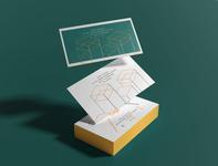 Abstract Line Illustration Card branding print flat minimal modern clean lineart illustration creative business card