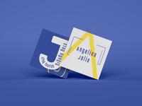 Bold Business Card branding design modern yellow flatdesign minimal inspiration blue business card quote creative clean typography motivation