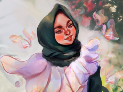 The Garden Beauty beauty inspiration colorful digital painting concept art character design illustration