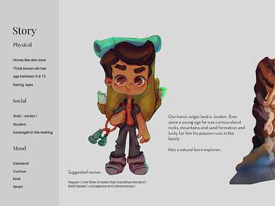 Arab Explorer concept art character design digital painting illustration