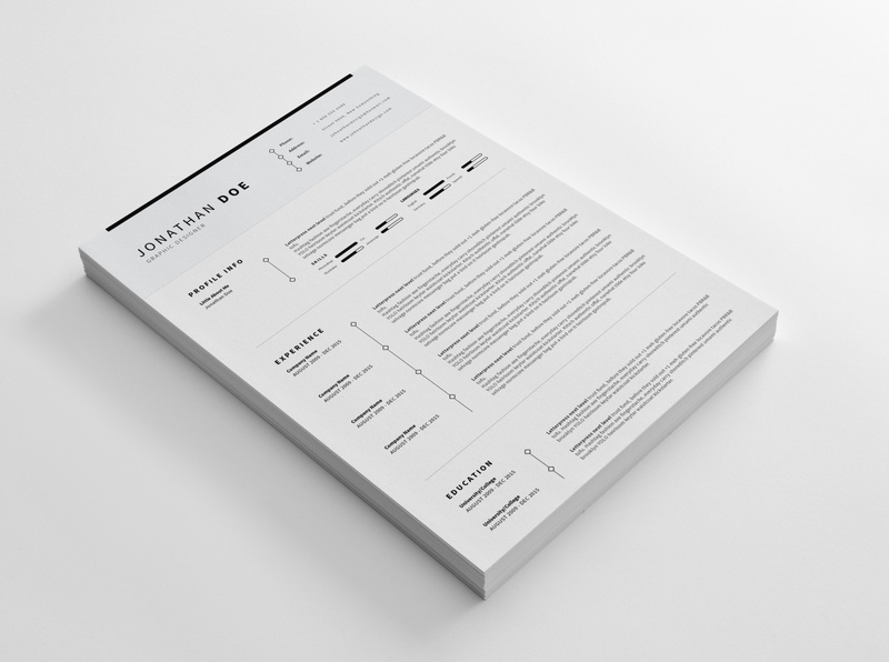 CV/Resume - Clean and Minimal