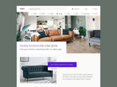 eCommerce Furniture re-design