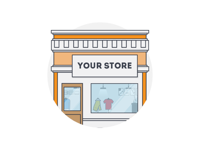 Your store illustration flat clothing store