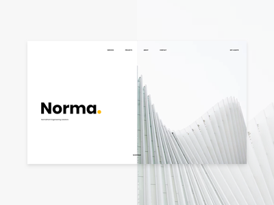 Norma. website web ux ui page one landing design clean