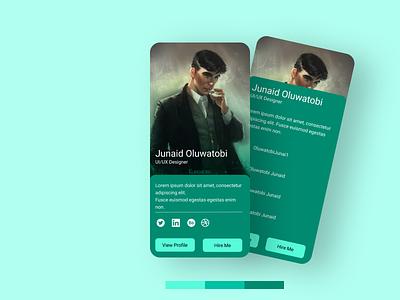 Simple Profile Card ux app cbc uiux training graphic design ui