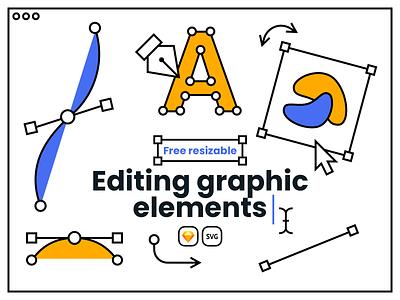 Free Editing Graphic Elements webdesign vector sketch illustration uidesign design tools graphic design freebies freedownload