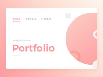 Portfolio Header Concept