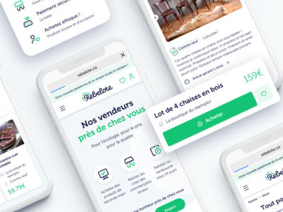 Rebelote mobile website - Mobizel