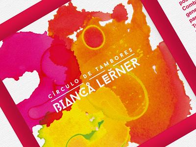 Bianca Lerner Branding drums painting colour improvisation
