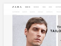 Zara | Home Page Redesign