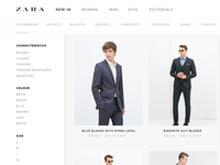 Zara | Category Page Redesign